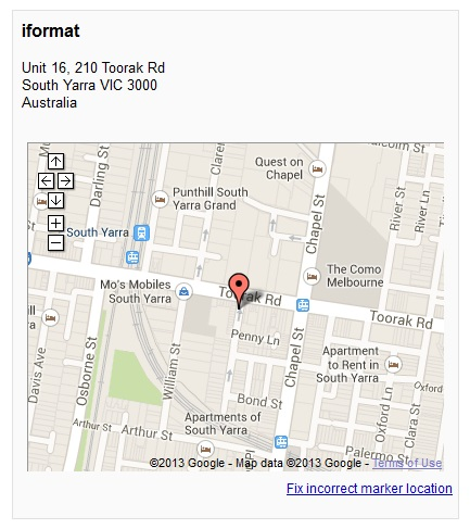 google places business map
